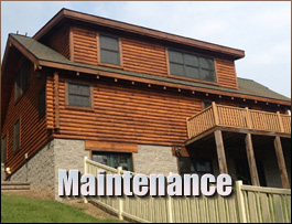 Log Home Maintenance  Bedford County, Virginia