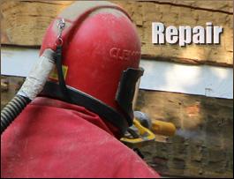 Log Home Repair  Bedford County, Virginia