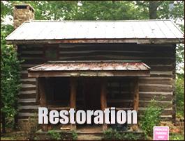 Log Cabin Restoration  Bedford County, Virginia
