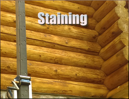 Log Home Staining  Bedford County, Virginia